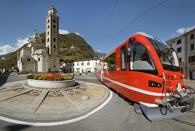 Santuario Madonna di Tirano e Trenino Rosso Bernina Express